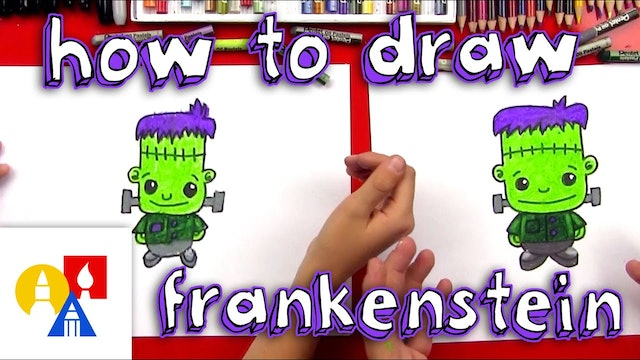 How To Draw A Cartoon Frankenstein