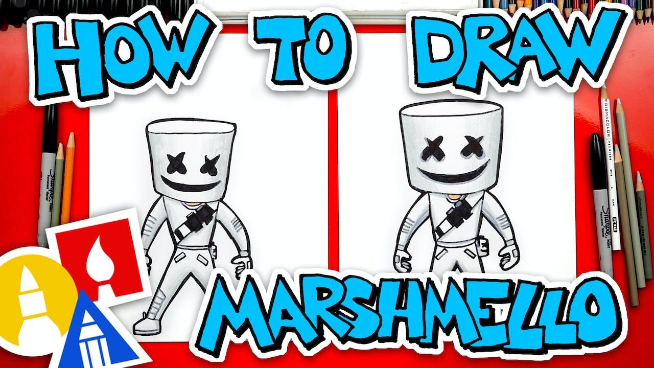 How To Draw Fortnite Marshmello Fortnite Art For Kids Hub
