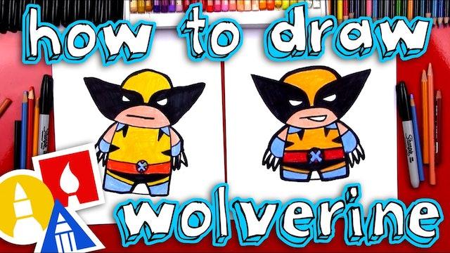 How To Draw Cartoon Wolverine