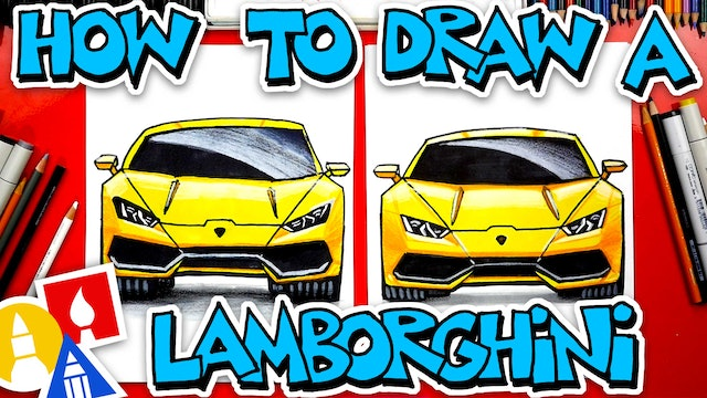 How To Draw A Lamborghini Front View