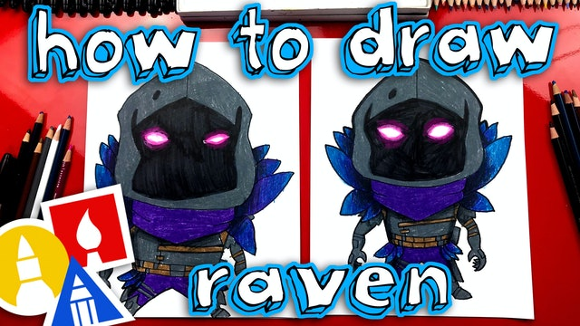 How To Draw Raven From Fortnite
