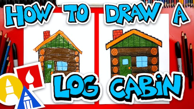 How To Draw A Log Cabin