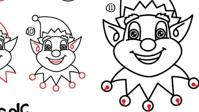 How To Draw An Elf Face (PRINTABLE)
