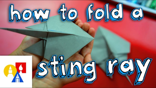 How To Fold An Origami Sting Ray