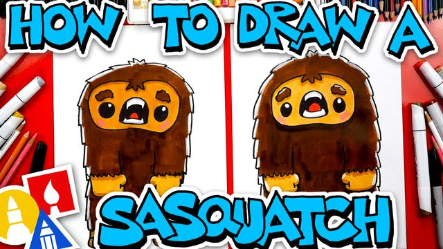 How To Draw A Cartoon Sasquatch