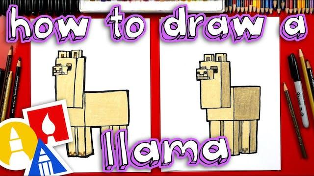 How To Draw Minecraft Llama