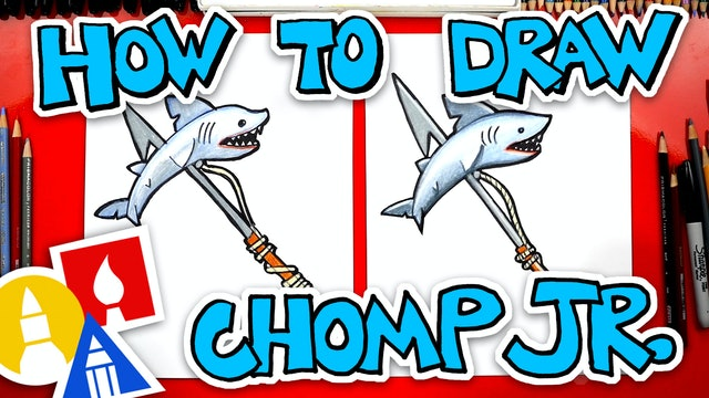 How To Draw Chomp Jr. Pickaxe From Fortnite