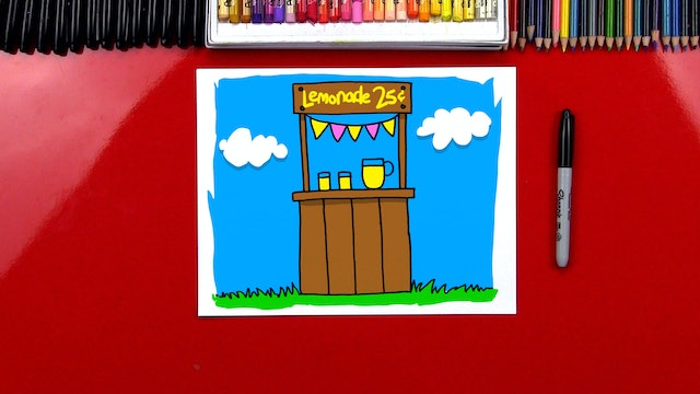 How To Draw A Lemonade Stand