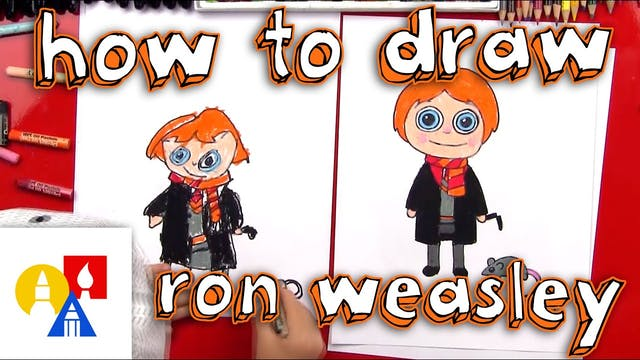 How To Draw A Cartoon Ron Weasley And...