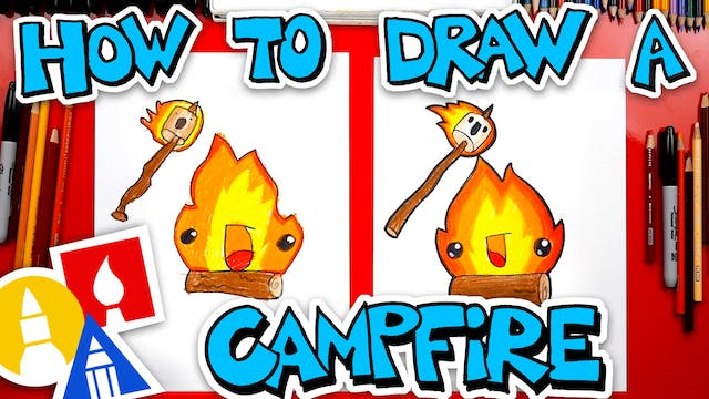 How To Draw A Funny Campfire