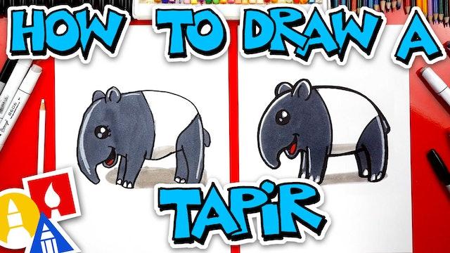 How To Draw A Cartoon Tapir