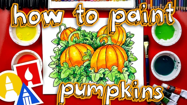 How To Draw And Paint A Pumpkin Patch - member