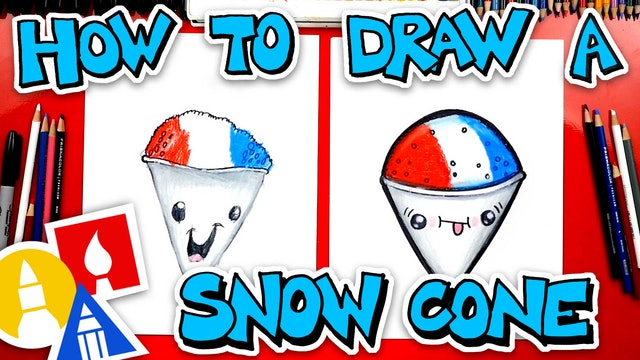 How To Draw A Snow Cone