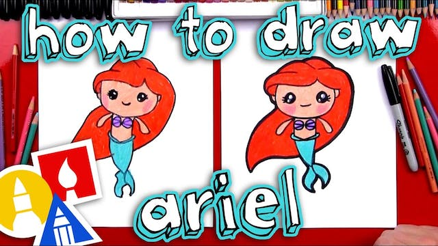 How To Draw Ariel The Little Mermaid
