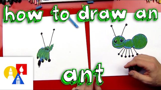 How To Draw An Ant Young Artists