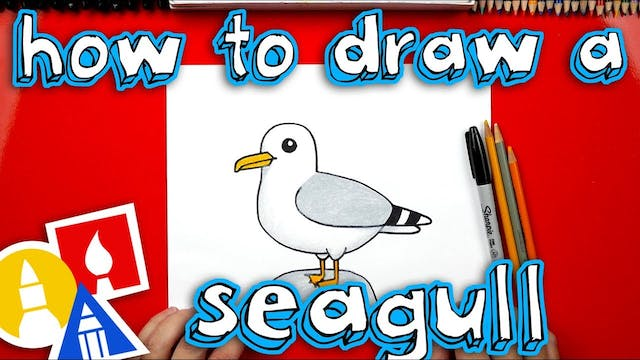 How To Draw Cartoon Seagull