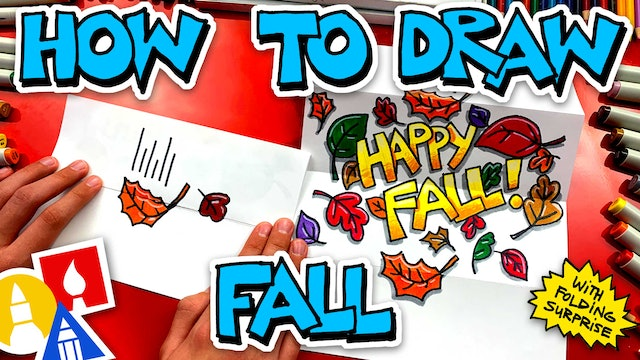 How To Draw A Fall Folding Surprise 🍁