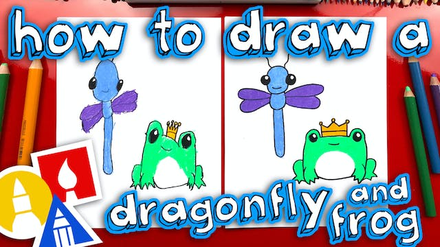 How To Draw A Dragonfly And Frog