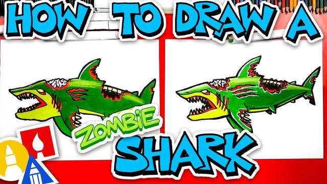 How To Draw A Zombie Shark