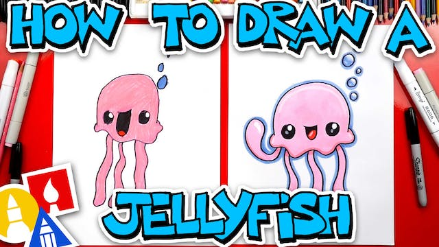 How To Draw A Cartoon Jellyfish
