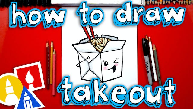 How To Draw A Takeout Box