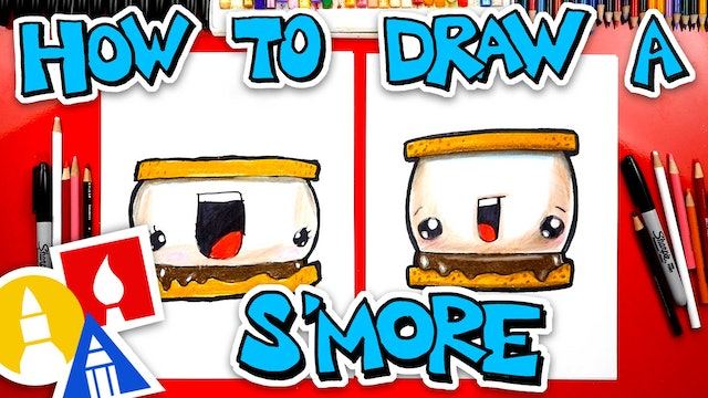How To Draw A funny S'more