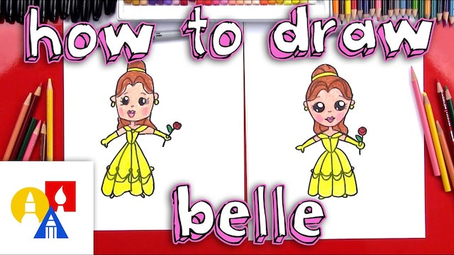 How To Draw A Cartoon Belle