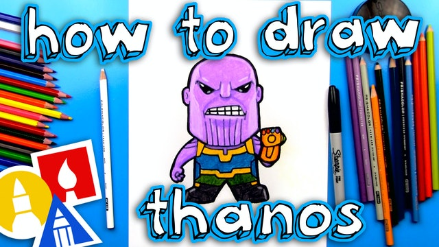 How To Draw Cartoon Thanos From Infinity War
