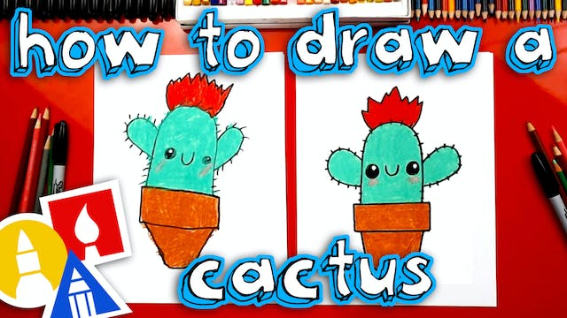How To Draw A Funny Cactus