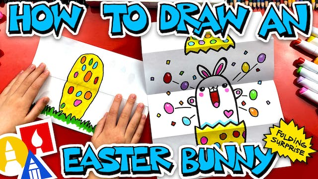 How To Draw An Easter Bunny Folding S...