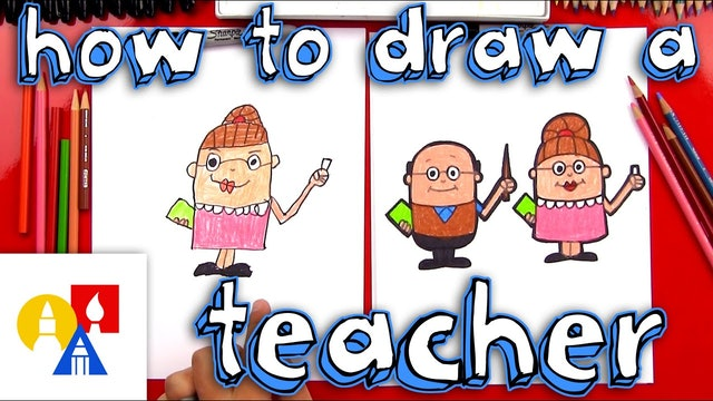 How To Draw A Cartoon Teacher