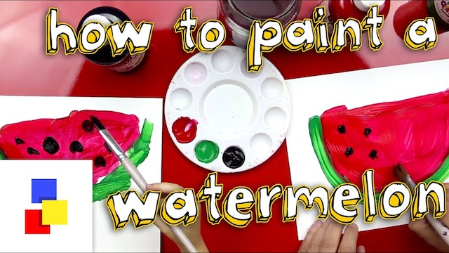 How To Paint A Watermelon (for super young artists)