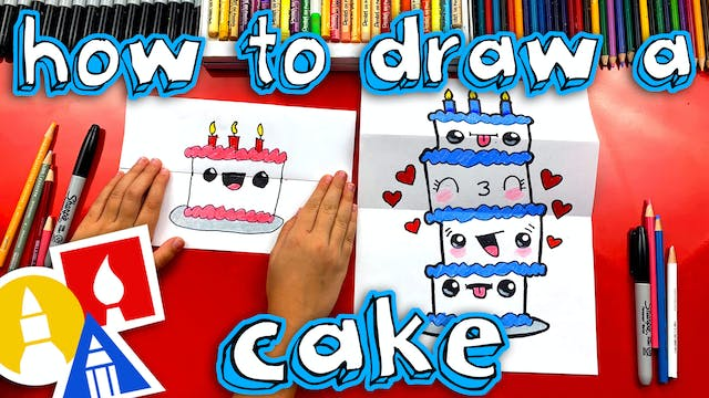 How To Draw A Birthday Cake With Folding