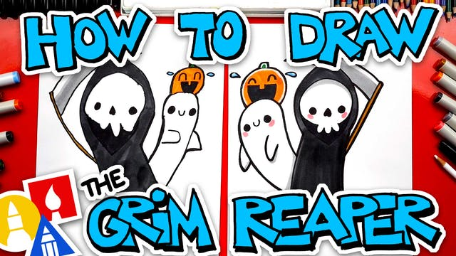 How To Draw A Funny Grim Reaper