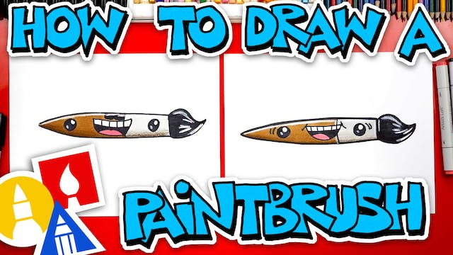 How To Draw A Paintbrush