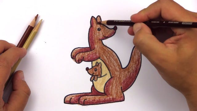 Member - How To Draw A Cartoon Kangaroo