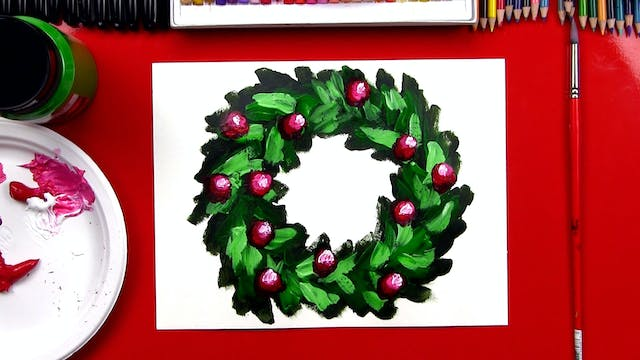 How To Paint A Christmas Wreath + The...