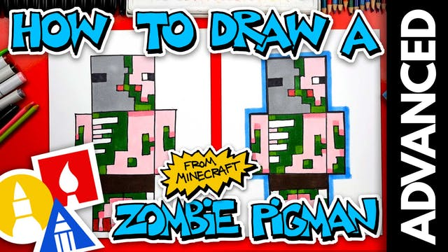 How To Draw A Zombie Pigman From Mine...