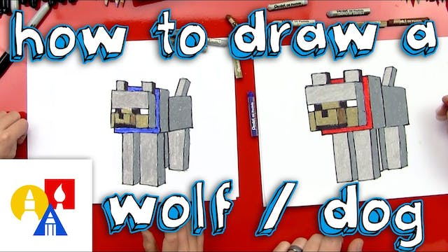 How To Draw A Minecraft Wolf