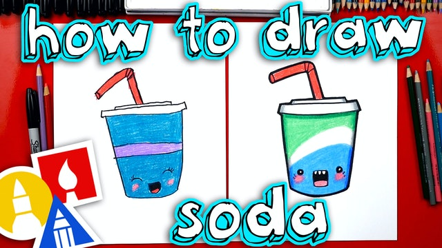 How To Draw Funny Soda Pop