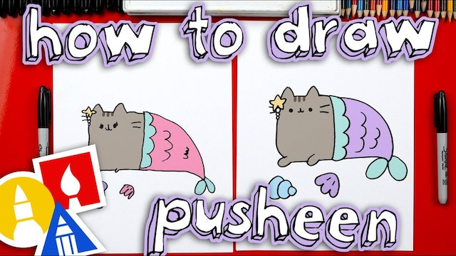 How To Draw Pusheen Mermaid