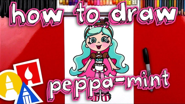 How To Draw A Shopkins Shoppies Peppa-mint