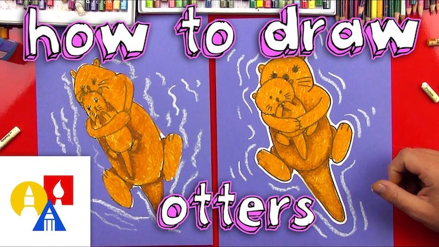 How To Draw Mommy & Baby Otter