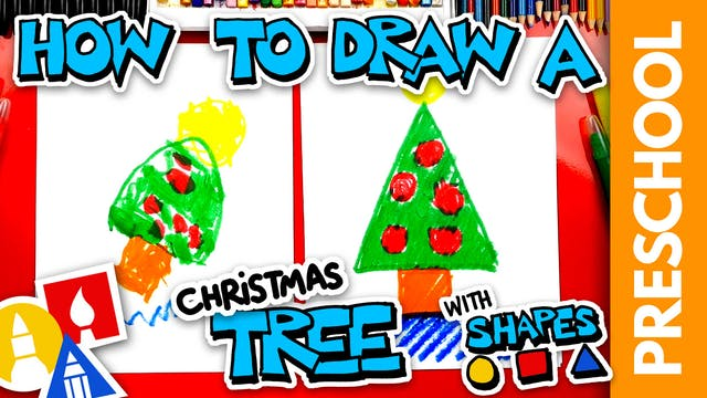 Drawing A Christmas Tree With Shapes ...