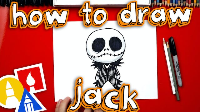 How To Draw Cartoon Jack Skellington ...
