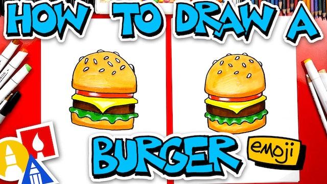 How To Draw The Cheeseburger Emoji