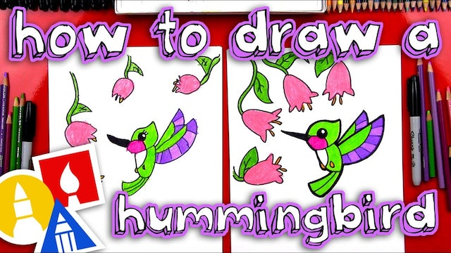 How To Draw A Hummingbird for young artists