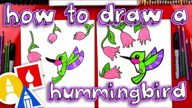 How To Draw A Hummingbird for young a...