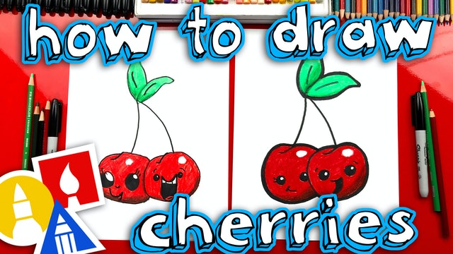 How To Draw Funny Cherries