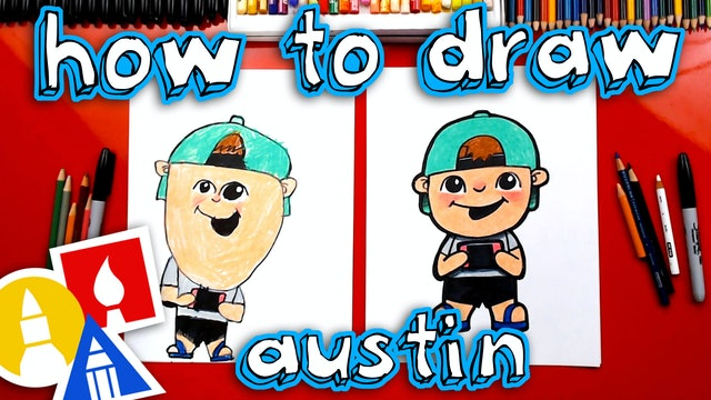 How To Draw Austin From Art For Kids Hub